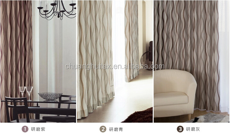 NEW ARRIVAL polyester grommet blackout thermal ready made curtains