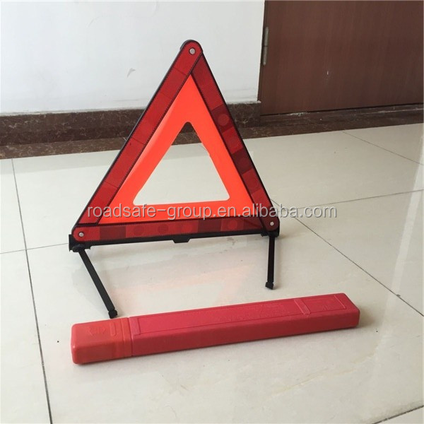 Road safety reflective warning triangle sign for car