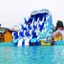 best selling CHEAP price hippo inflatable water slide Customerized