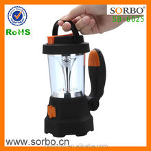 USB Dynamo Hand Crank Emergency LED Lantern with Red SOS Flashing Light and Crank Motor Mobile Phoner Charger