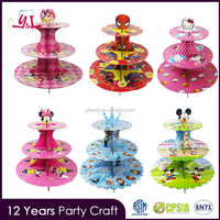 China Wholesale Birthday Cake 3 Tier Cake Stand Cardboard Cupcake Stand For Cupcake