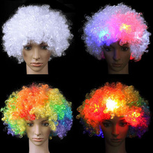 Wholesale fashionable detonation hairstyle colored flashing LED wig