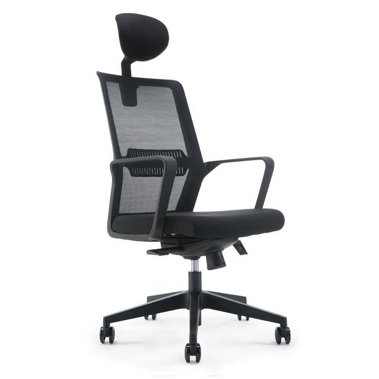Professional useful high back mesh armchair swivel typist chair