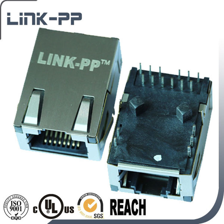 Low Profile RJ45 Female PCB Connector 0826-1DX1-BS-F
