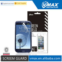 Brand Vmax High Clear Matte Anti-Radiation Mobile Phone / Cell Phone LCD Monitor color screen protector for Samsung galaxy s3