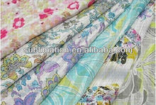 High quality manufacturer fabrics knit fabric snowflake printed organza fabric