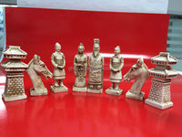 New Chess Piece Set - 32 pieces Terracotta Army chess set Chessmen for sale