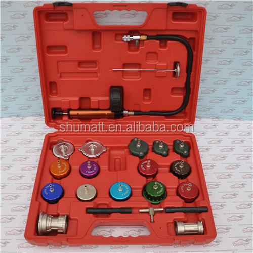 21pcs Car Diagnostic Tools Cooling System & Radiator Cap Pressure Tester for kinds cars