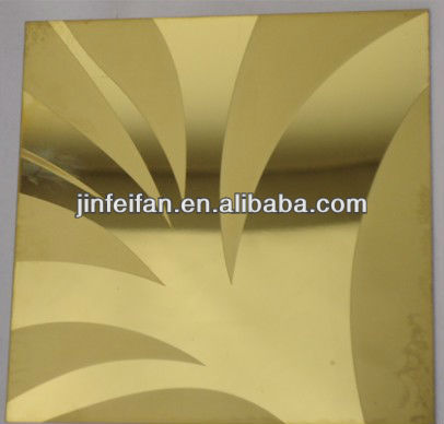 various style color mirror etched decorative stainless steel sheet