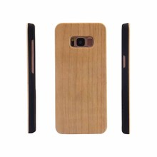Real maple phone covers natural wood case cheap phone case for s8 phone