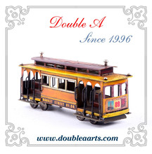 Wholesale vintage car model cable bus model metal bus model hand made home decor