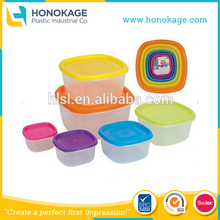 OEM IML Microwavable food grade Sealable Plastic Container With Lid Custom Logo Printed