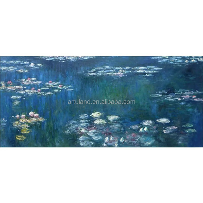 High quality famous Cloude monet reproduciton of lotus pond oil painting