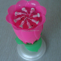 Rose flower happy birthday candle