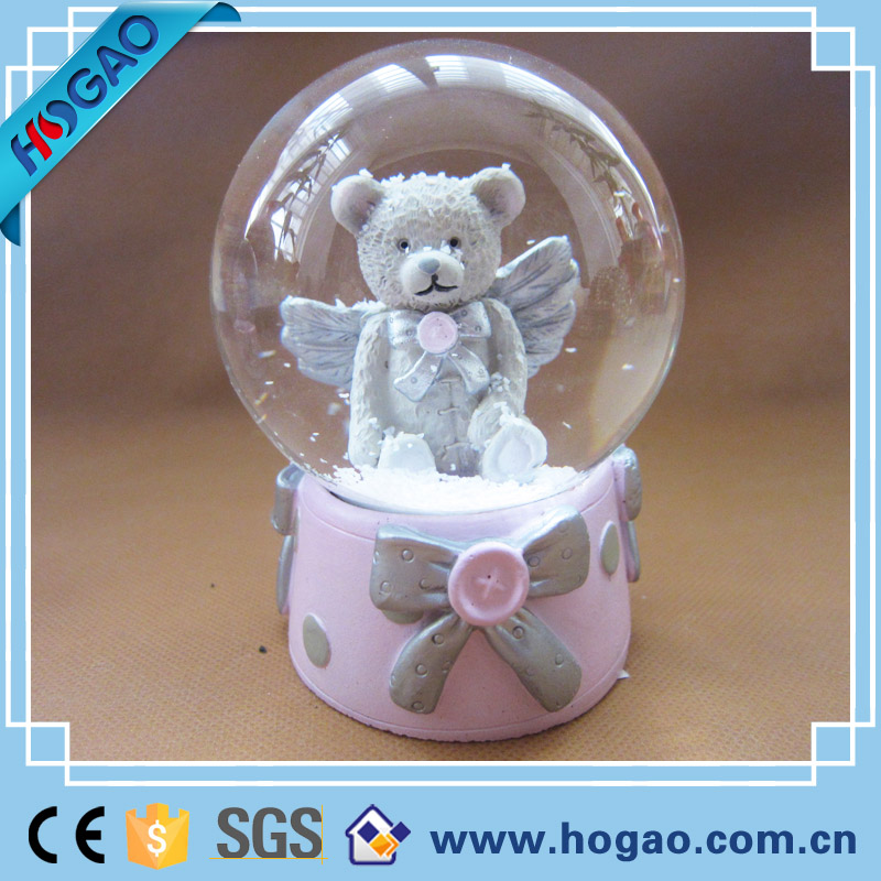 Personalised Message Christmas Bear Snow Globe For Boys Girls Gift Idea