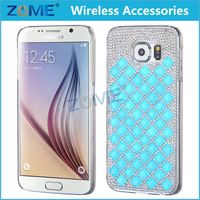 Shenzhen Bling Shine Diamante Shaped Diamond Stones Crystal Luxury Hard Phone Case Cover For Samsung Galaxy S6