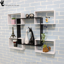 Pan household decoration fancy portable wooden wine racks diy wood wall rack
