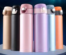 Premium quality eco-friendly double wall Insulated travel coffee cups stylish slim thermos flask 304 stainless steel vacuum mugs