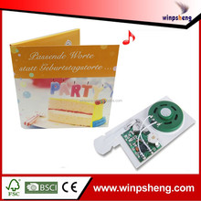 music ic chip for birthday greeting cards /musical devices for cards