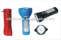 JA-1913 rechargeable led flashlight high power led torch plastic torch with side light