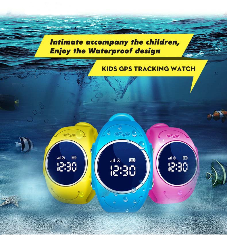 kids waterproof IP68 smart gps tracking watch with Smartphone Android