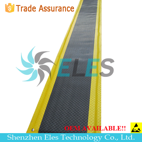 2mm Cleanroom Green Black Yellow 2 layers ESD Rubber Mat