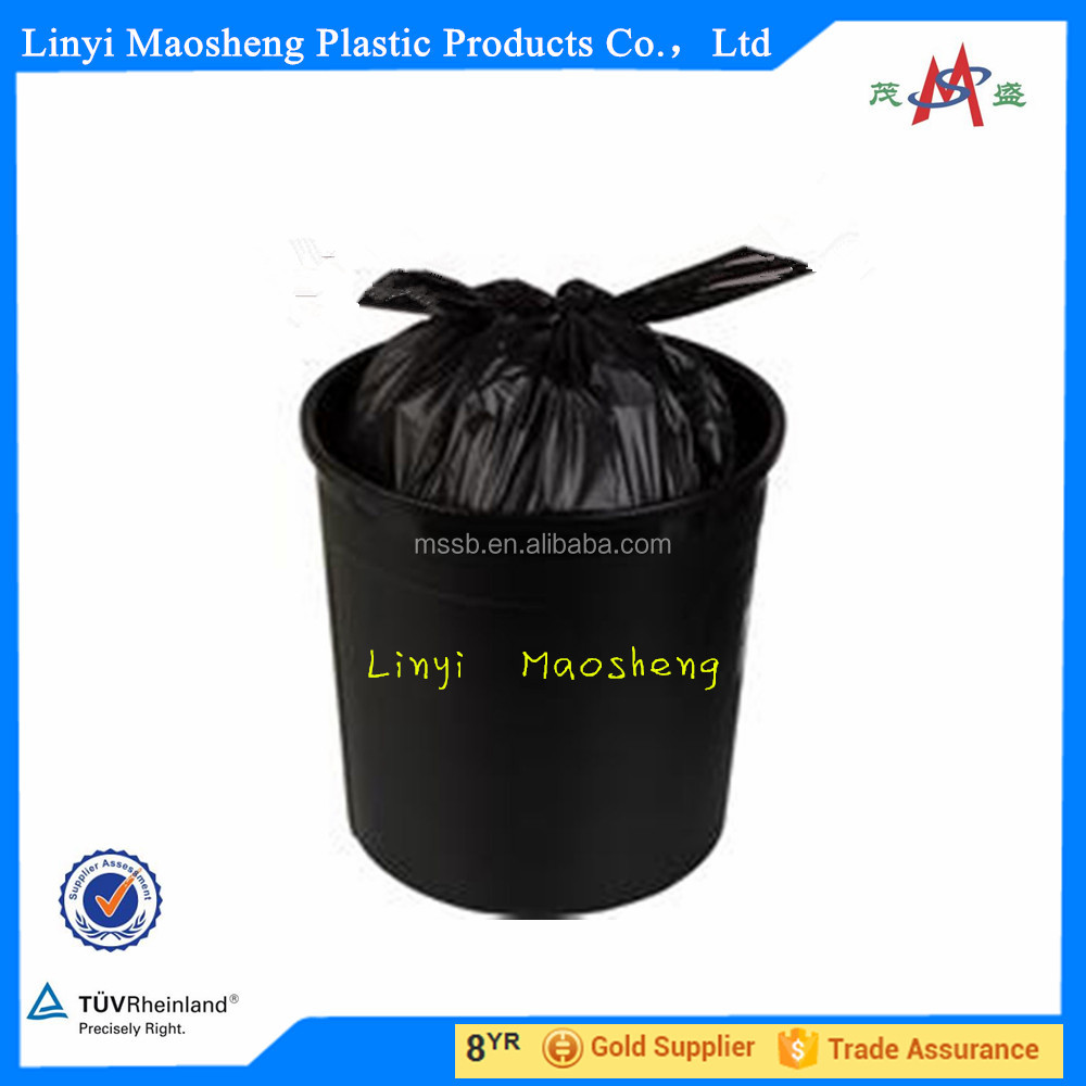 cheap reusable bags Black Dog Waste Trash Bag on Roll/ T Shirt/Drawstring Medical 100% Biodegradable Plastic Garbage Bag