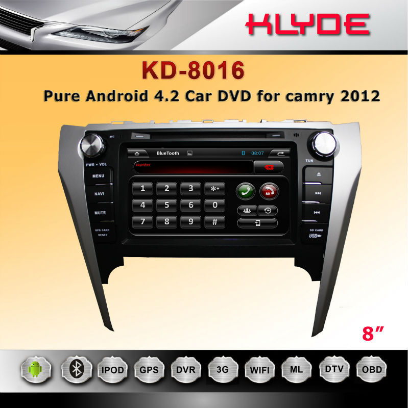 new technology in auto radio player for CAMRY 2012 with all function
