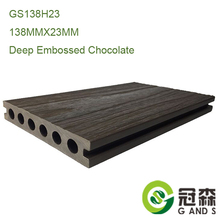 Co-extrusion WPC decking board PE coated WPC