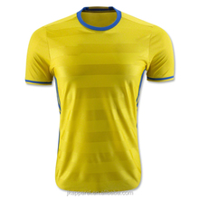 2016 yellow nation team football shirt plus-size top quality short sleeve home kit jersey for men