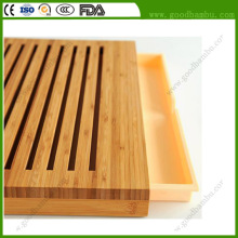 Premium Bamboo Best Slatted Cutting Board with Removable Mat