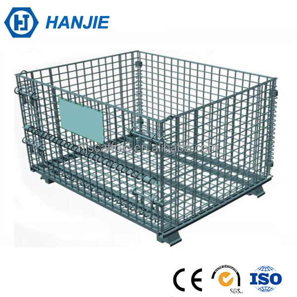 Mesh Box Wire Cage Metal Bin Storage Pallet Container