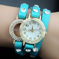 Fashion genuine romanson leather quartz watch NSBR-24558