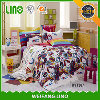 cat print bedding set children/Cheap cat print bedding set