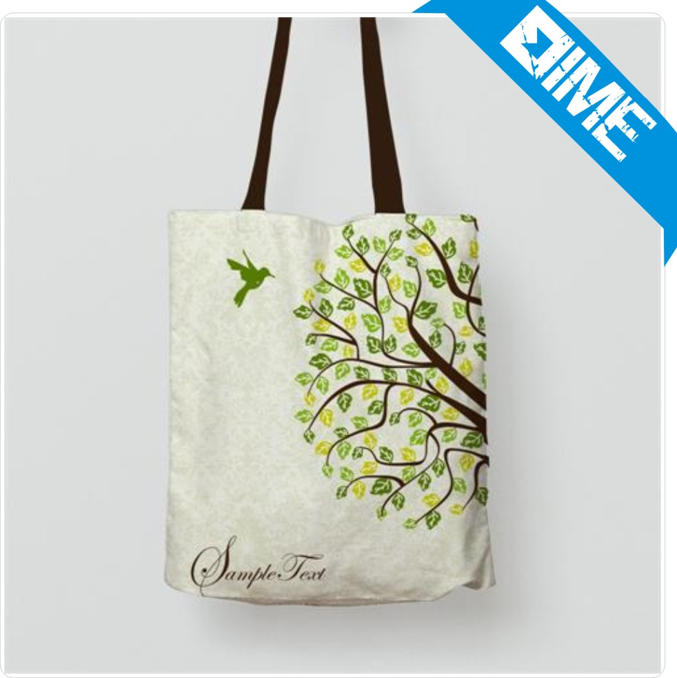 2016 Hot Selling Fashion Design Cheap Reusable White Cotton Bag