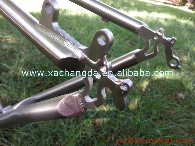 Fsahionable Titanium mountain bicycle frame customized mtb bike frame with disc brake