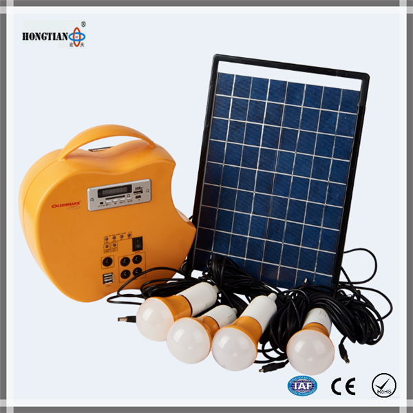 Low price and high quality rechargeable emergency 10w 12v solar panel home led lights