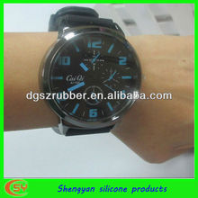 2013 silicone business wrist watch for men