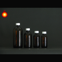 120ml~500ml screw cap brown color glass bottle amber glass bottle amber massage oil bottle