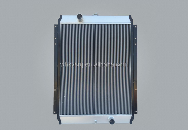 Plate fin aluminum intercooler radiator PC360 for excavator parts made in China