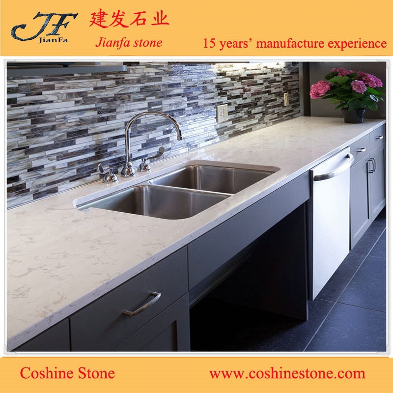 Chinese factory prices artificial quartz stone for kitchen cabinets