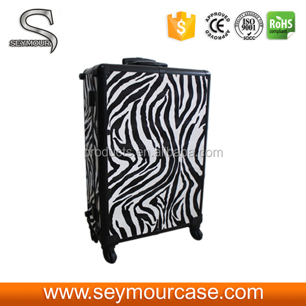 PU Leather Zebra Makeup Brush Case
