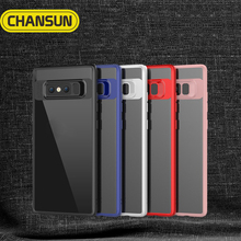 cell phone shockproof case tpu bumper clear back case for samsung note 8