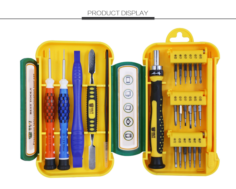 BEST-8925 Precision Screwdriver Set Repair Tool Kit, 24PCS mobile phone repairing tools