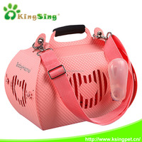 Air box for pet cats and dogs out portable travel box, pet plastic sling carrier bag