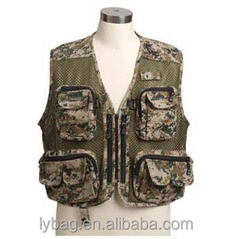 camouflage fly fishing vest for men