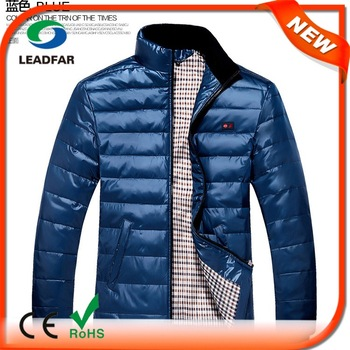 custom quality thick windbreaker parka down jacket for men with fur hood