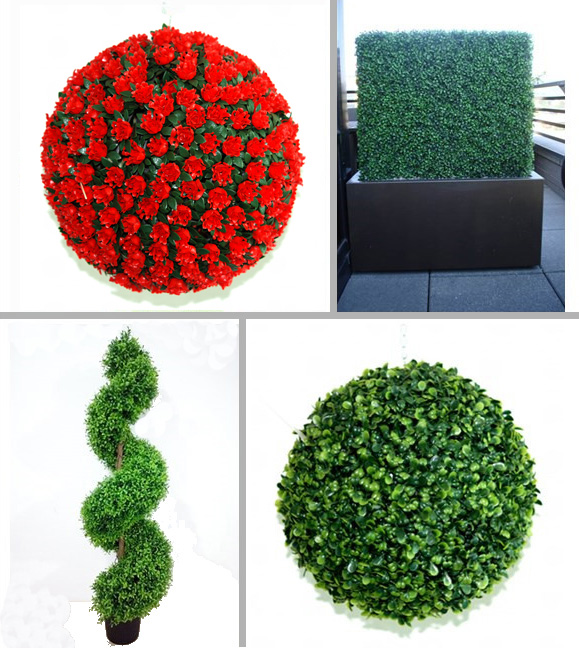 High Quality Custom Artificial Topiary Panel Topiary Trees Grass Flower Ball