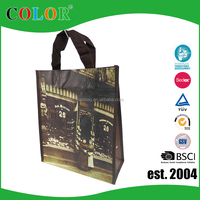 New Promotional Cheap Customized Foldable Laminated Eco Fabric Tote Non-woven Shopping Bag, Recyclable PP