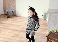 Korean Design Girls Cotton Clothes Suits Include Hot Sell Girls 2 Piece Clothing Sets Include Swallow Gird Pullover And Bottomin